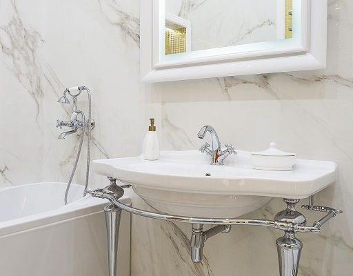 Ванная комната, 3-комнатная квартира в Москве, 84м²
