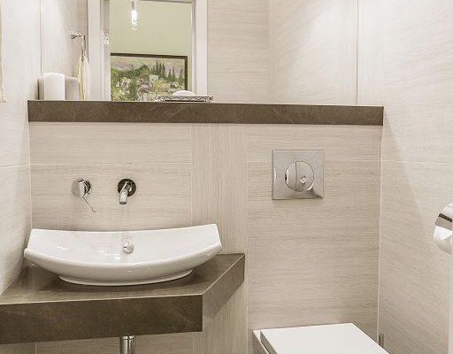 Ванная комната, 2-комнатная евро-квартира в Москве, 78м²