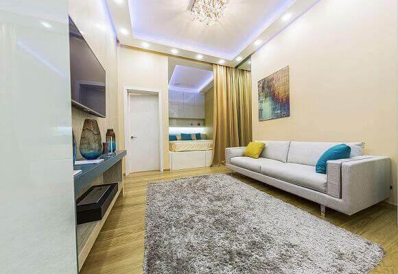 Спальня, 1 комнатная квартира в Москве, 38м²