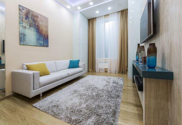 Гостиная, 1 комнатная квартира в Москве, 38м²