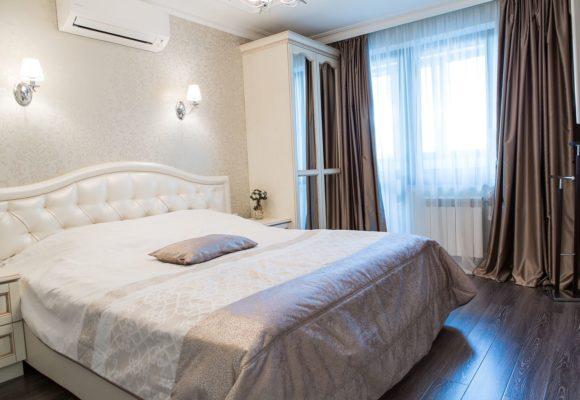 Спальня, 3-комнатная квартира в Москве, 85м²