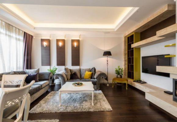 Гостиная, 2-комнатные апартаменты в Санкт-Петербурге, 78м²
