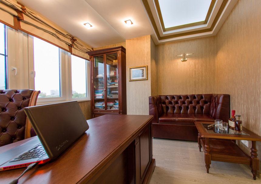Кабинет, Домашний кабинет в Реутове, 7м²