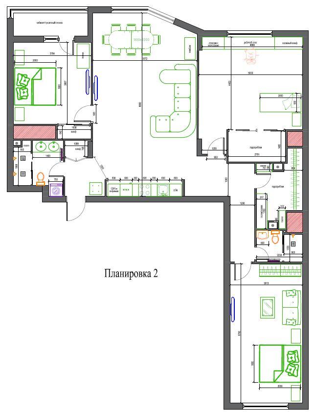 Апартаменты в Санкт-Петербурге, 74м2